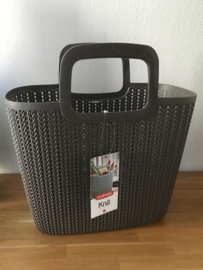 Curver Knit shopping basket Lily - harvest brown