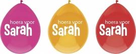 sarah ballonnen hoera voor sarah