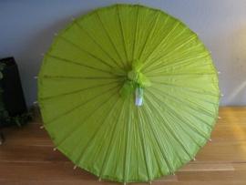 papieren paraplu`s - parasol kleur groen