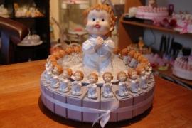 communie jongen wit zilver taart aanbieding 25 pers
