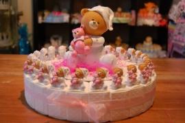 beer meisje met knuffel taart  20 personen