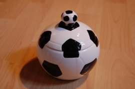 voetbal pot met deksel ook leuk als kado