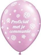 communie ballon paars 30 cm, 11 inch per 5 stuks