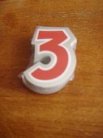 plak cijfer 3