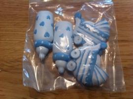 baby plakkers gemengd blauw prijs per  stuk