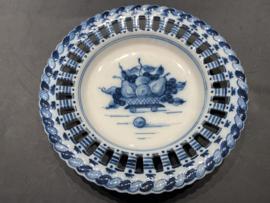 """Royal Makkum Plate """"Ajour"""" Blue Model 1"""