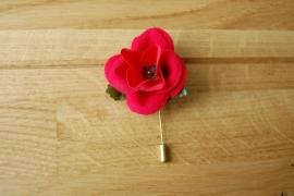 corsage roos verpakt in doosje per stuk