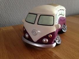 autobus paars model als spaarpot