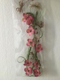 bloemenslinger decoratief 1.5 meter kleur oud roze