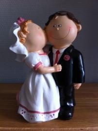 bruidspaar kus groter model