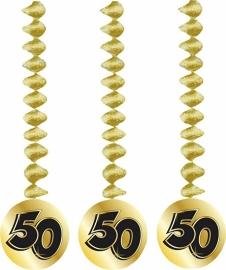 hanging swirl decoratie 50 jaar goud