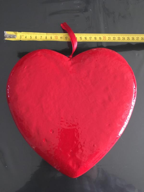 groot hart met lint decoratie