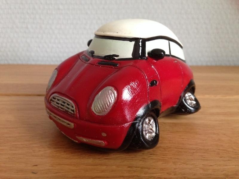 mini cooper spaarpot kleur rood.
