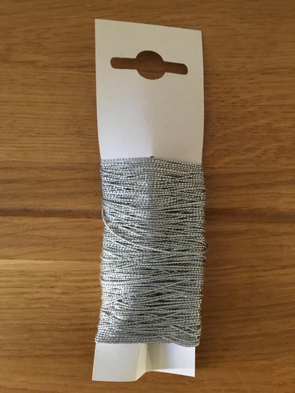 elastisch lint kleur zilver 20 meter