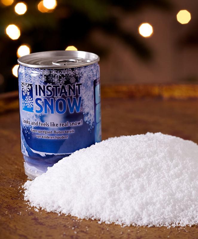 Magische sneeuw in een blikje
