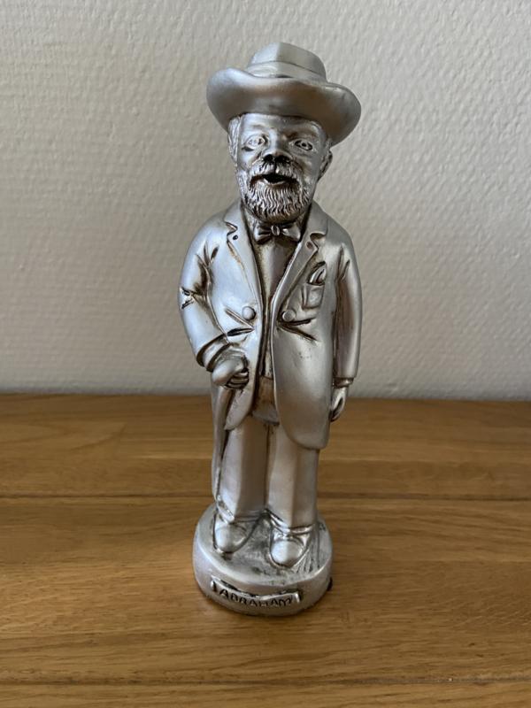 Abraham beeld zilver kleurig hoogte 24 cm