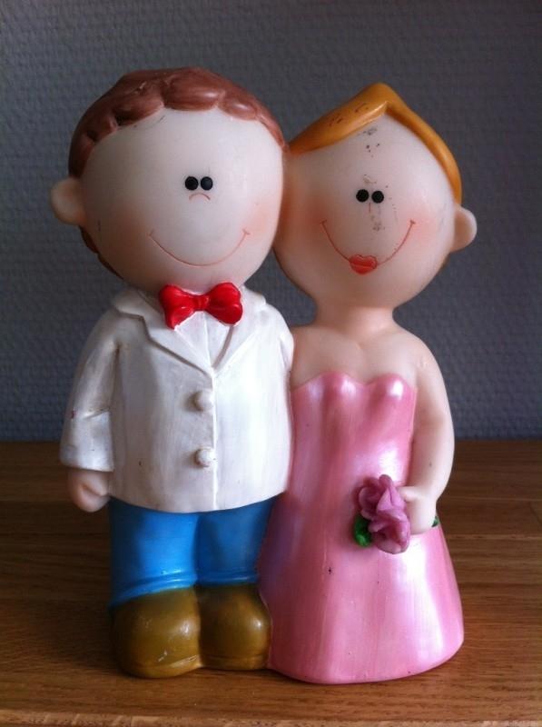 bruidspaar modern spaarpot