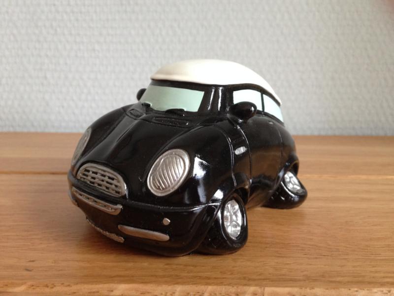mini cooper spaarpot kleur zwart.