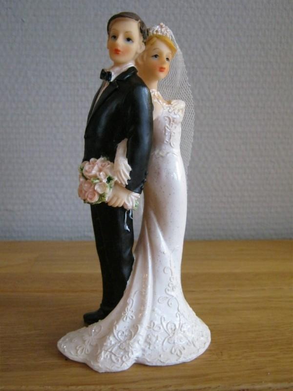 taarttopper huwelijk koppel liefde