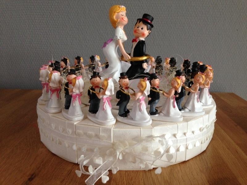 bruidspaar ik heb je taart incl topper 20 personen compleet