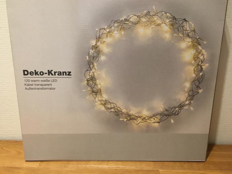 Decoratie Krans met 120 led lampjes verlichting binnen of buiten