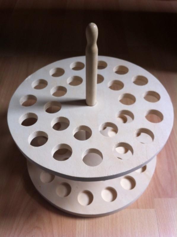 houten presenteer rek geschikt voor glazen buis met kurk
