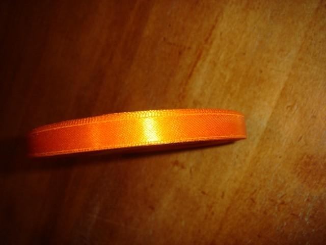 lint stof oranje smal per rol