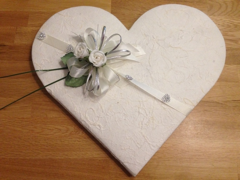 receptieboek hart vorm