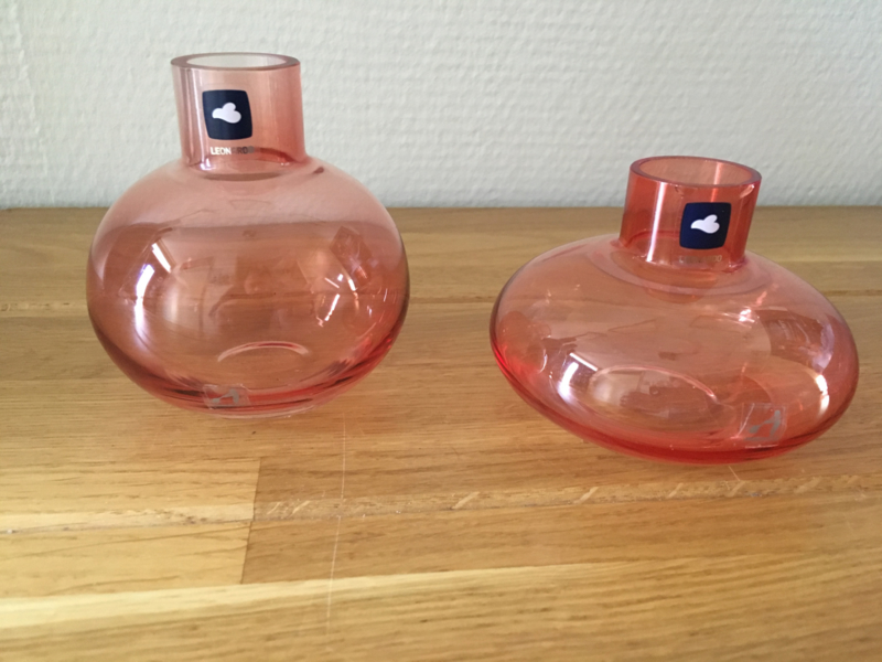 Leonardo Lucente  tafel vaas set rosa van 2 stuks