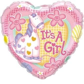 geboorte ballon pony meisje