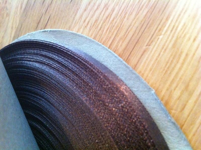 lint op rol 50 meter smal bruin per rol