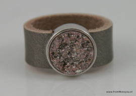 Leren ring brons