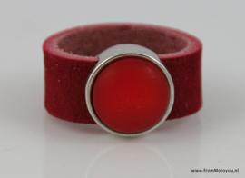 Leren ring rood