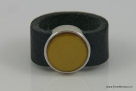 Leren ring grijs