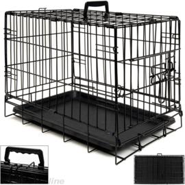 Hondenbench metaal zwart  46 x 30,5 x 36cm