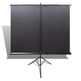 Beamerscherm Projectiescherm 160*160 cm Statief behuizing Zwarte