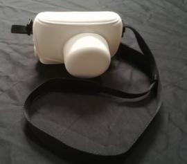 PU Lederen Tas voor de Olympus Pen E-P1, E-P2 en E-PL1 kleur Wit