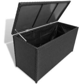 Kussen Kist Wicker Zwart Met Gasveer