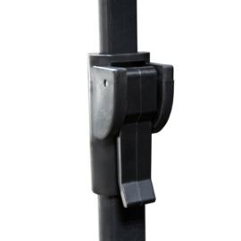 Beamerscherm Projectiescherm 152 x 152 cm Statief behuizing Zwart
