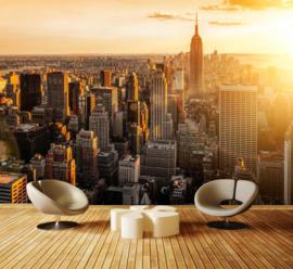444 Dawn over Manhattan- 420x270 Fotobehang New York Ochtendgloren