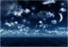 045 Nachthemel boven de Zee Fotobehang 400X280