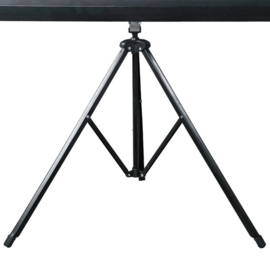 Beamerscherm Projectiescherm 178 x 178 cm Statief behuizing Zwart