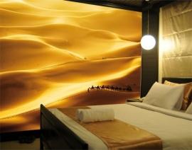 050 GOLDEN DUNES 400x280 Duinen Woestijn Bedoeïenen fotobehang met lijm