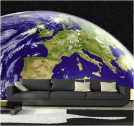 005 Planeet Aarde Europa 400x280 Fotobehang