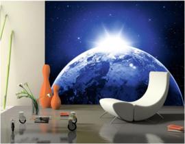 006 Aarde Zonsondergang Kosmos 400x280 Fotobehang