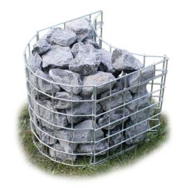 Schanskorf flexibel steenkorf totale lengte 265 cm 30 cm hoog