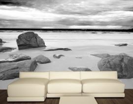 080 ROCKY BEACH 400x280 Strand Zee Stenen fotobehang met lijm
