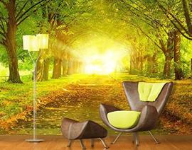199 Autumn Avenue 400x280 fotobehang met lijm