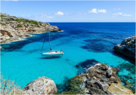 488 Zeiljacht baai Cala d'Or Mallorca 400x280