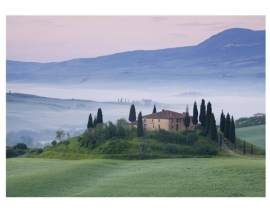 086 TUSCANY SUNRISE 400x280 Italië Toscane fotobehang met lijm